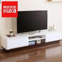 顾家家居 钢化玻璃置物电视柜组合视听柜现代简约客厅家具1692GF