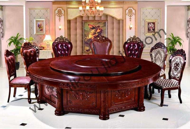 电动圆餐桌