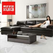 顾家家居美式真皮沙发头层牛皮美式皮沙发客厅皮艺组合家具1298