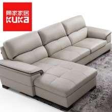 顾家家居门店款真皮沙发进口头层牛皮现代简约客厅整装家具8028