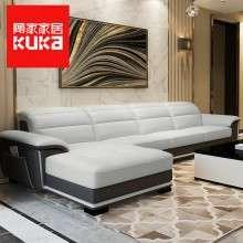 顾家家居真皮沙发客厅现代简约大小户型转角整装组合皮沙发8039