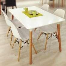 北欧餐桌 简约现代 时尚实木 休闲方桌 洽谈餐 桌椅组合桌子