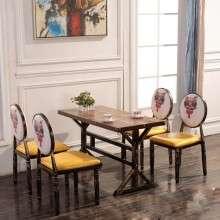 休闲餐桌椅 铁艺餐桌 主题餐厅 厂家定制批发