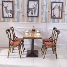 休闲餐桌椅 铁艺餐桌 主题餐厅 咖啡厅餐桌 西餐厅卡座