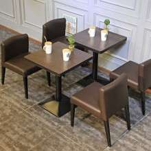 休闲餐桌椅 铁艺餐桌 主题餐厅 咖啡厅餐桌 西餐厅卡座 实木餐桌
