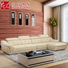 左右沙发  头层牛皮真皮艺沙发L型欧式客厅沙发组合大户型DZY2823