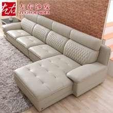 左右沙发新品  头层牛皮  现代客厅转角沙发 休闲沙发DZY2611