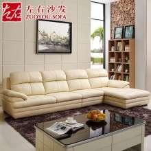 左右真皮沙发L形现代头层牛皮客厅转角木质皮艺沙发贵妃组合2821