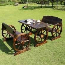 户外家具 碳化木桌椅 酒吧桌椅 主题餐厅桌椅 庭院家具 厂家直销