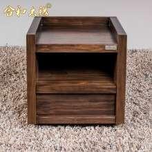 【合和木缘】北美黑胡桃无辅料全拼板床头柜GY-HB17