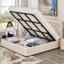 芝华仕爱蒙 真皮软床小户型婚床 双人床 卧室家具1.5-1.8m C008