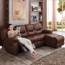 芝华仕头等舱功能沙发 布艺沙发欧美式沙发小户型客厅组合9107