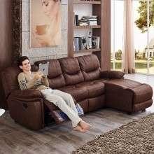 芝华仕头等舱功能沙发 欧式沙发小户型布艺沙发 客厅组合9107套餐