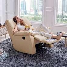 芝华仕头等舱沙发 多功能单人位沙发 进口头层牛皮艺沙发K360