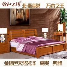 【合和木缘】黄金海棠木纯实木家具卧室GY-A606