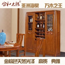 【合和木缘】黄金海棠木纯实木家具酒柜GY-C511