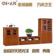 【合和木缘】黄金海棠木电视柜组合客厅家具GY-C510