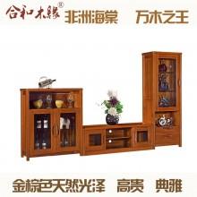 【合和木缘】黄金海棠木电视柜组合客厅家具GY-C502