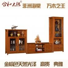 【合和木缘】黄金海棠木电视柜组合客厅家具GY-C501
