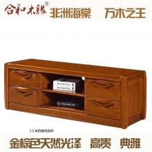 【合和木缘】黄金海棠木纯实木家具电视柜1.5米四抽