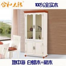 【合和木缘】高端地中海系列白蜡木家具酒柜GY-DU06