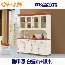 【合和木缘】高端地中海系列白蜡木家具四门高餐柜GY-DJ12