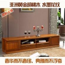 黄金胡桃木 客厅家具 1.8米电视柜 2.2米电视柜简约
