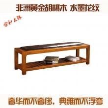 黄金胡桃木 卧室实木家具 换鞋凳实木鞋架鞋收纳凳储物凳床尾凳