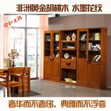 实木书柜自由组合 转角书柜胡桃木单个书柜架书橱合和木缘