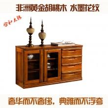合和木缘高端实木家具黄金胡桃木餐边柜SLX-E5595