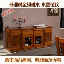 合和木缘黄金胡桃木实木家具餐边柜GY-E5605