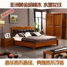 全实木双人床 卧室家具 双人床1.5 床1.8 欧式实木床