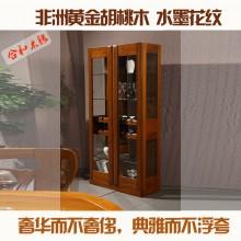 全实木酒柜简约现代客厅间厅柜 双门酒柜玄关酒柜隔断