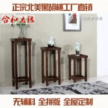 【合和木缘】家具黑胡桃现代阳台户外花架可定制GY-HR01