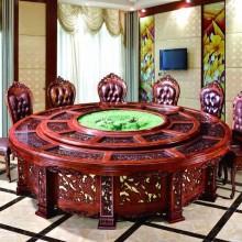 电动圆餐桌 大圆桌 电动桌 饭店桌椅 实木大圆桌