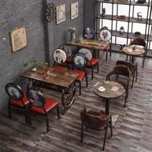 厂家定制 批发休闲餐桌椅 铁艺餐桌 主题餐厅