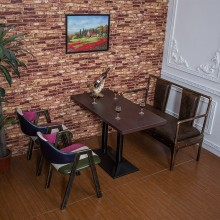 餐桌椅 铁艺餐桌 主题餐厅 咖啡厅餐桌 西餐厅 卡座