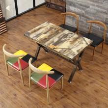 休闲餐桌椅 铁艺餐桌 主题餐厅 咖啡厅餐桌