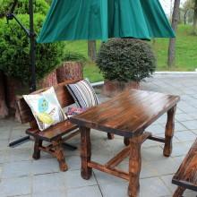 厂家直销 户外家具 碳化木桌椅 酒吧桌椅 主题餐厅桌椅 庭院家具