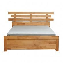 北欧简约实木家具床
