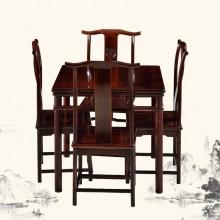 东非酸枝明式小方桌 麻将桌实木雕刻明清古典宫廷仿古组合单卖