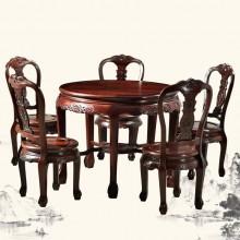 东非酸枝提子圆桌实木雕刻明清古典宫廷仿古组合单卖