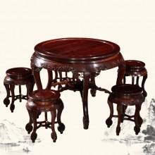 东非酸枝圆桌实木雕刻明清古典宫廷仿古自合单卖