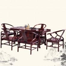 南美酸枝茶桌实木雕刻明清古典宫廷仿古组合单卖