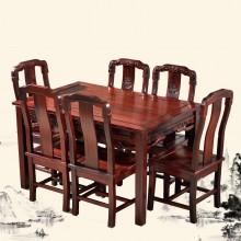 _南美酸枝国色天香餐桌实木雕刻明清古典宫廷仿古组合单卖