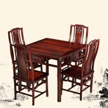 南美酸枝明式小方桌 麻将桌实木雕刻明清古典宫廷仿古组合单卖