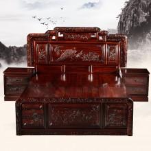 国色天香实木大床实木雕刻明清古典宫廷仿古组合