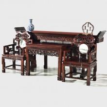 灵芝中堂实木雕刻明清古典宫廷仿古组合单卖
