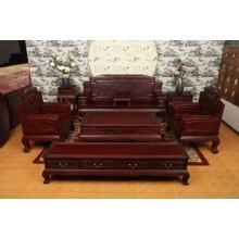 非洲酸枝金玉满堂沙发组合中式实木仿古奢华明清雕花