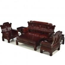 非洲酸枝喜从天降沙发实木雕刻明清古典宫廷仿古组合单卖